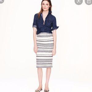 J.crew collection Pencil skirt in geometric stripe